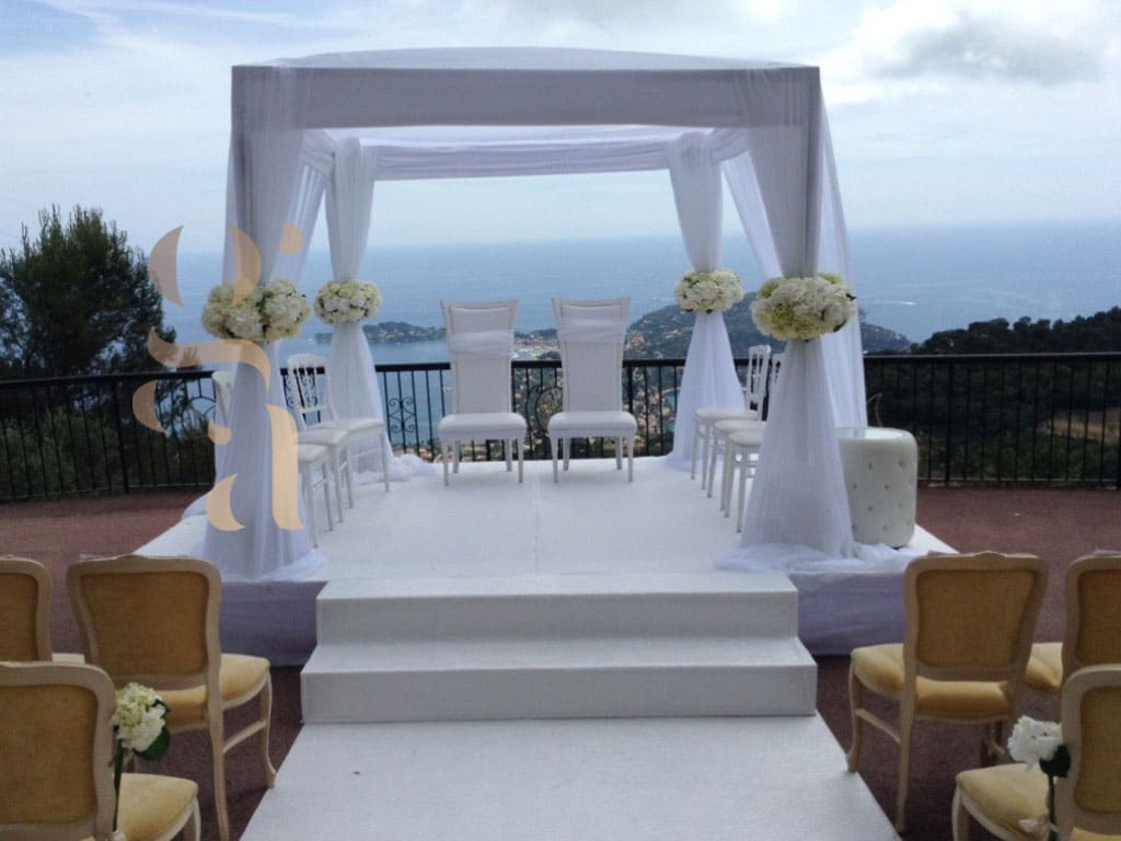 Houppa mariage Cannes - Wedding planner
